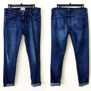 CURRENT ELLIOTT Relaxed Fit Cuffed Skinny Jeans